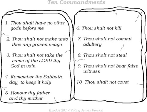 Lucrative image throughout free printable ten commandments